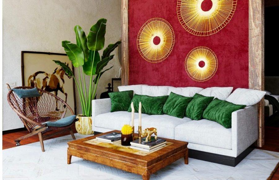 Деревенская текстура и яркие цвета для стиля Бохо